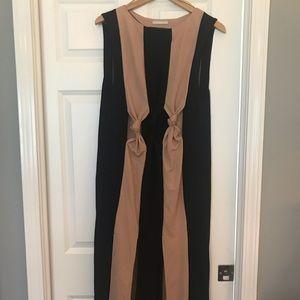 Zara Striped Black and Tan dress